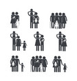 set family member together with son vector image
