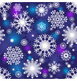 set of gradient snowflakes isolated on black vector image