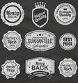 set of vintage chalkboard bakery logo badges vector image