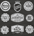 set vintage chalkboard bakery logo badges and vector image