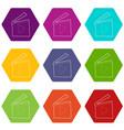 slapstick icons set 9 vector image