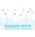 smart city with services and icons internet of vector image