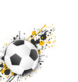 Soccer ball football ball with grunge effect vector image vector image