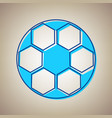 soccer ball sign sky blue icon with vector image vector image
