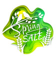spring sale layered paper cut style vector image vector image