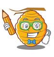 student bee hive character cartoon vector image