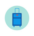 suitcase icon isolated travel baggage case vector image vector image