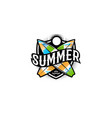 summer colorful modern logo in a sports style 2 vector image vector image