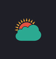 sun and cloud computer symbol vector image vector image