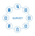 survey icons vector image vector image