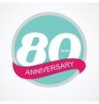Template Logo 80 Anniversary vector image vector image