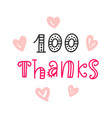 thanks 100 followers vector image