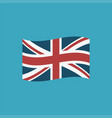 united kingdom flag icon in flat design vector image