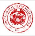 utah seal rubber stamp vector image vector image
