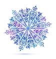 Watercolor snowflake vector image vector image