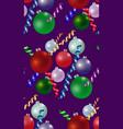 xmas balls pattern texture vector image