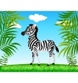 zebra in the wild vector image vector image