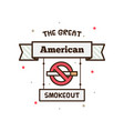 the great american smokeout vector image