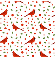 seamless pattern with beautiful cardinals vector image
