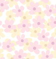Light Seamless Pattern with Daisies vector image