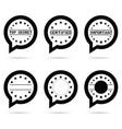 top secret icon in speech bubble vector image