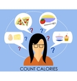 A healthy lifestyle to count calories vector image vector image