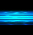 abstract blue light power line fast speed on black vector image vector image