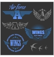 Air Force shields and labels with wings vector image