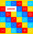 arrow line icons vector image