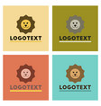 assembly flat icons nature lion logo vector image