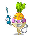 automotive raw rutabaga root isolated on mascot vector image vector image