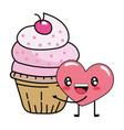 bakery cupcake cartoon vector image
