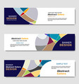 Banner abstract web template