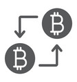 bitcoin transaction glyph icon money and finance vector image vector image