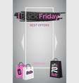 black friday best offers web banner vector image vector image