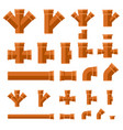 brown sewage pipes vector image
