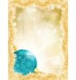 Christmas ball on golden lights EPS 8 vector image vector image