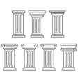Classic column icon set vector image vector image