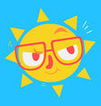 Cute Geek Sun Thinking vector image vector image