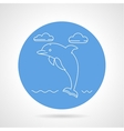 Dolphin blue round icon vector image vector image