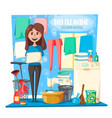 dry cleaning housewife and household tools vector image vector image