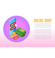 e-commerce and online shopping icons and elements vector image vector image