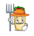 farmer burrito character cartoon style vector image vector image
