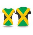 Flag shirt design of Jamaica vector image vector image