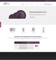 Flat design of the site to start up vector image