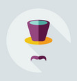 flat modern design with shadow icons mustache hat vector image vector image