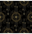 Geometric compass seamless pattern vector image vector image