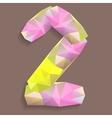 Geometric crystal digit 2 vector image vector image