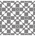 geometric modern ornamental black and white vector image vector image