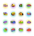 House icons set comics style vector image vector image